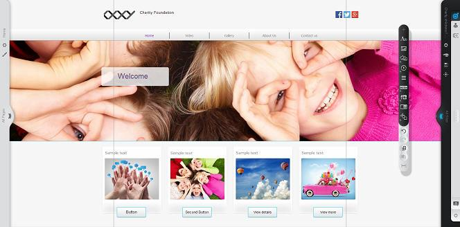 Oxxy site builder default layout